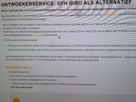 GFH Giro presenteerde zich wel degelijk als ontwoekerservice