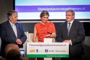Koningin Máxima lanceert website Financieelgezondewerknemers.nl