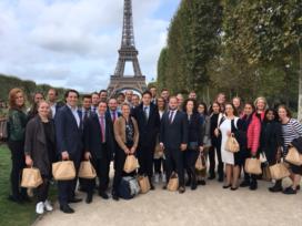 Young Insurance bezoekt SCOR, AXA, Gras Savoye (Willis) in Parijs