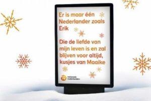 NN plaatst persoonlijke kerstboodschappen op digitale reclameborden